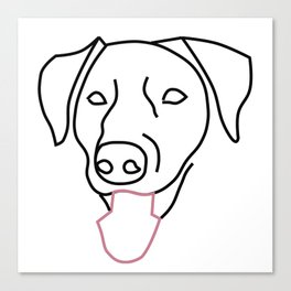Labrador Line Drawing Canvas Print