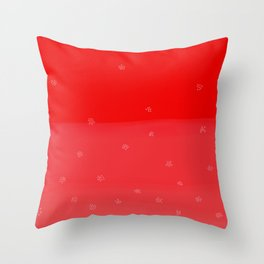 Snowflakes in Red Throw Pillow