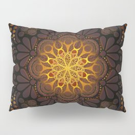 """Warm light Moroccan lantern Mandala"" Pillow Sham"