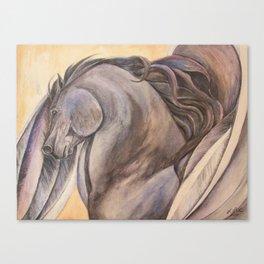 Raven Pegasus Canvas Print