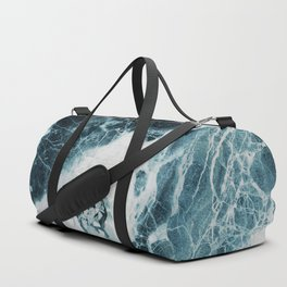 Blue Sea Marble Duffle Bag