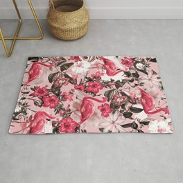 Floral and Flemingo III Pattern Rug