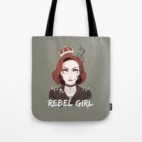 dana scully Tote Bags featuring Punk Scully by Sutexii
