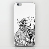 bison iPhone & iPod Skins featuring Bison  by ARI(Sunha Jung)