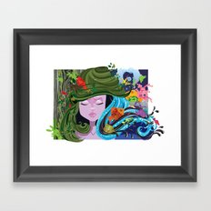 Bad Hair Day 2 Framed Art Print