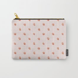 peach pink blobs Carry-All Pouch
