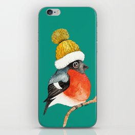 Christmas Bird Bullfinch iPhone Skin