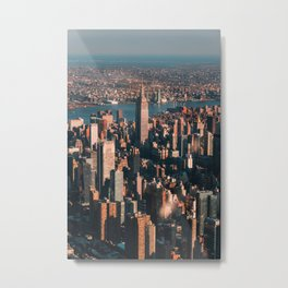 Birds eye view of Empire State Building Metal Print