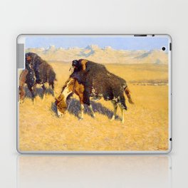 Frederic Remington - Indians Simulating Buffalo, 1908 Laptop & iPad Skin