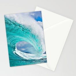 Wave Series Photograph No. 28 - Ocean Blue Stationery Cards