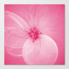 Pink Fairy Blossom Fractal Canvas Print