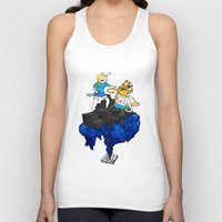 finn and jake Tank Tops featuring FINN, JAKE, FIONNA & CAKE by Echo Faust