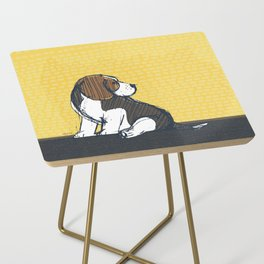 Beagle Puppy Portait by Friztin Side Table