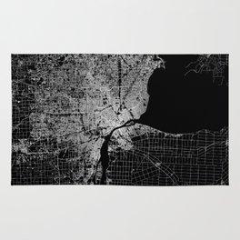 Detroit map  Rug