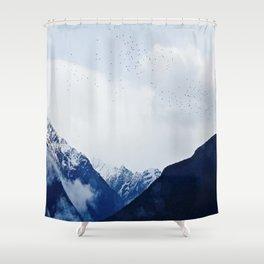 Hitchcock Mountains #birds Shower Curtain