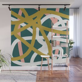 Abstract Lines 02B Wall Mural