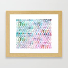DAZZLING MERMAID SCALES Framed Art Print
