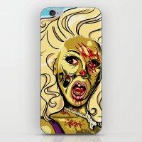 rupaul iPhone & iPod Skins featuring Zombie RuPaul by ComfortComfort