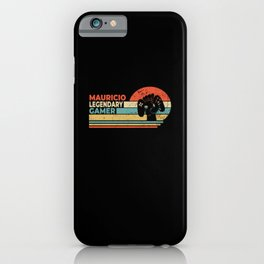 Mauricio Legendary Gamer Personalized Gift iPhone Case