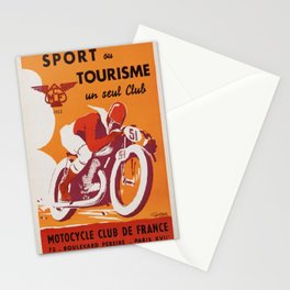 Vintage poster - Motocycle Club de France Stationery Cards
