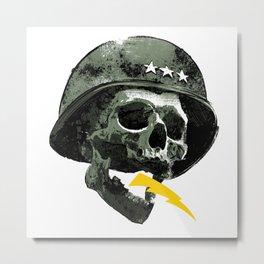 General's Skull Metal Print