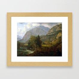 Johan Christian Dahl View of Fortundalen Framed Art Print
