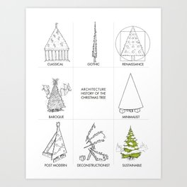 Architecture History of the Christmas Tree Art Print