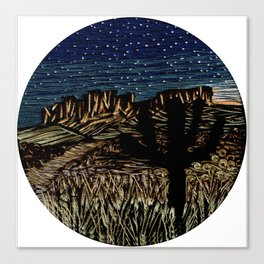 Desert New Moon Canvas Print