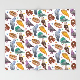 Pigeon Party Throw Blanket