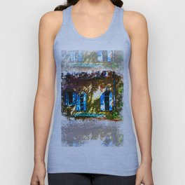 Secret Garden Castle Windows Unisex Tank Top