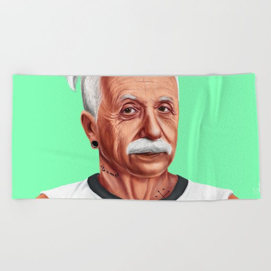 Hipstory -  Albert Einstein Beach Towel