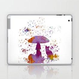 Cat and mushroom Laptop & iPad Skin
