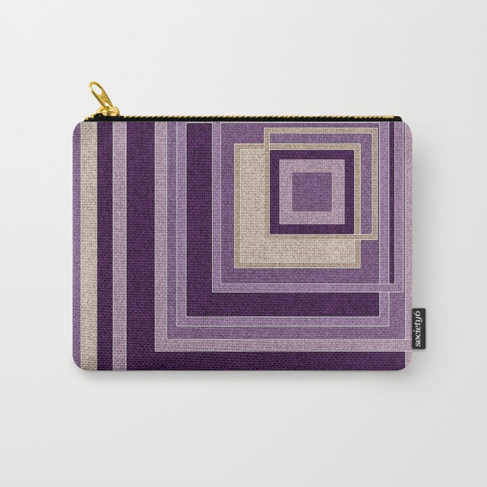 Abstract painting in purple and brown tones . Carry-All Pouch