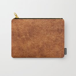 Brown vintage faux leather background Carry-All Pouch