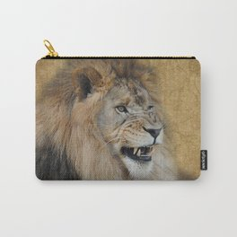 Snarling Male Lion Carry-All Pouch