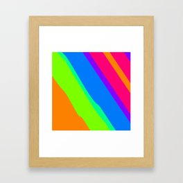 Run Toward Framed Art Print