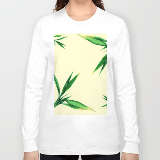 Bamboo leaves #1 #decor #art #society6 Long Sleeve T-shirt