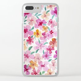 FRAGRANT SUMMER Clear iPhone Case