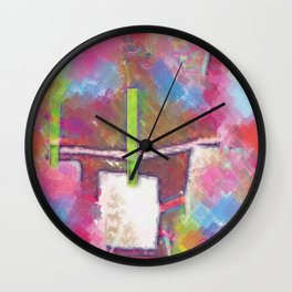 Title Shop Art Pop Art Wall Clock