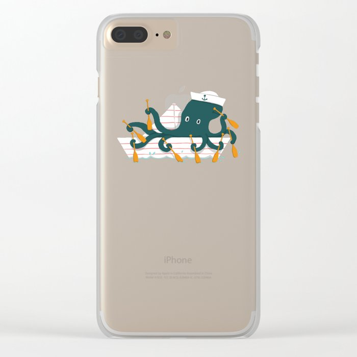 Sailor Octopus Clear iPhone Case