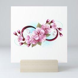 Infinity with Sakura Blossom Mini Art Print