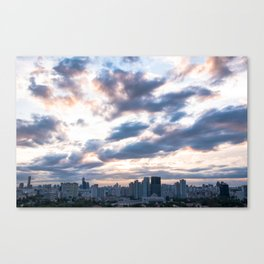 Seoul skyline at Dusk, South Korea Canvas Print