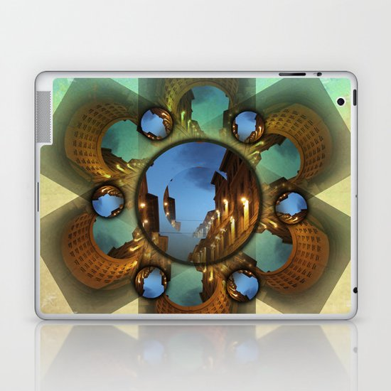 Emerald orbit Laptop & iPad Skin