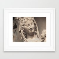 madonna Framed Art Prints featuring MADONNA by LeeLeeLee