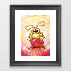 Proud Easter Bunny Framed Art Print
