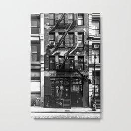 New York City, Soho Series, Black & White 1 Metal Print