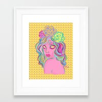 avatar Framed Art Prints featuring Avatar by Hannah  Aryee