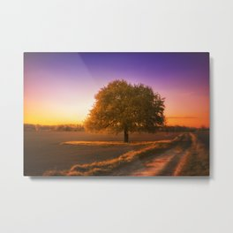 Golden Hour Sunset Landscape Metal Print