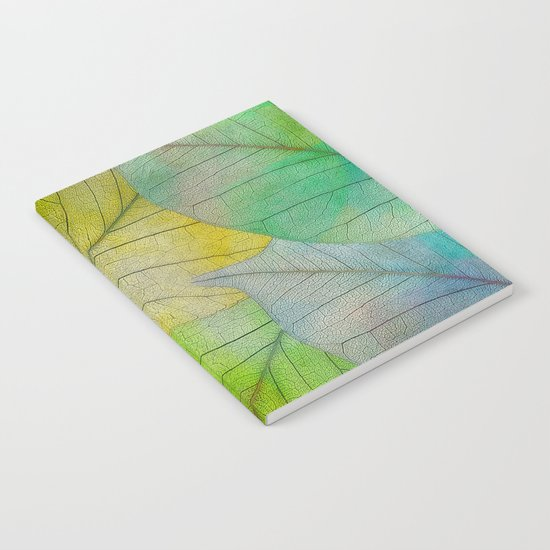Pattern of Colorful Leaves Notebook
