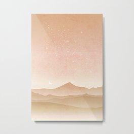 Mountain Galaxy Art Metal Print